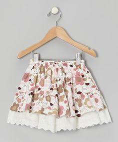 Take a look at this Pink Daisy Eyelet Corduroy Skirt - Toddler & Girls on zulily today!