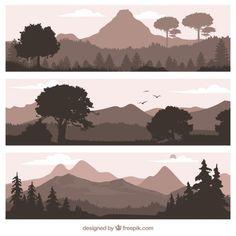 banners paisajes naturales Vector Gratis