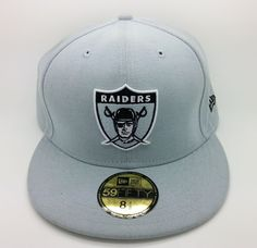 OAKLAND RAIDERS HISTORIC NFL NEW ERA 59 FIFTY FITTED HAT/CAP (SIZE 8 1/8) -- NEW #NEWERA59FIFTY #OaklandRaiders