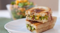 Macheesmo: Charred and Chopped Broccoli Grilled Cheese