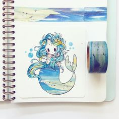 "8,392 Likes, 36 Comments - ✨theresa ✨ (@birduyen) on Instagram: ""another #washitape mermaid for #mermay ^u^"""