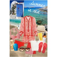 """Summer in red"" by lelouka on Polyvore"