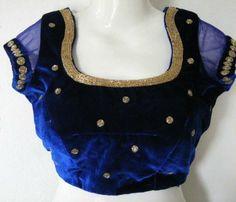 Stylish velvet blouse designs for net sarees to try this festive season Sari Blouse Designs, Saree Blouse Patterns, Bridal Blouse Designs, Velvet Saree, Party Sarees, Stylish Blouse Design, Lace Dress With Sleeves, Velvet Fashion, Blouses