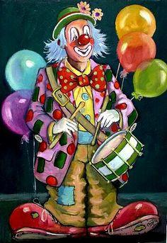 Image detail for -Il mondo di Carmen: Arte - il clown Clown Pics, Gruseliger Clown, Circus Clown, Creepy Clown, Circus Theme, Circus Party, Clown Paintings, Send In The Clowns, Evil Clowns