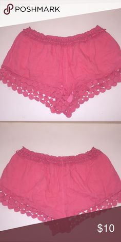 Aerie Crochet Shorts Only worn a few times! Perfect for the pool or beach. Comfy, loose material. aerie Shorts