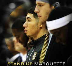 Stand Up Marquette! The ultimate game day pump up mix: https://play.spotify.com/user/marquetteu/playlist/7mZ6HltfNe7mGcMrwXN2bH