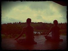 Sitting in meditation with my husband on my birthday #Meditation #Yoga #YourZenYoga #ZenMind #TheBestGiftEver #CostaRica