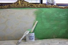 Maison Decor: Breaking out the Paint~on a french gilded sofa!!