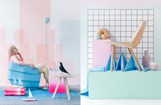 This particular photo shoots design concept, originated by the minds of Floor Knaapen and Anne-Sophie Markus, explores the way in which fashion and furniture design can be integrated to bring contemporary yet fluent elements to your pad.