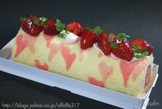 Strawberry Heart Cake Roll