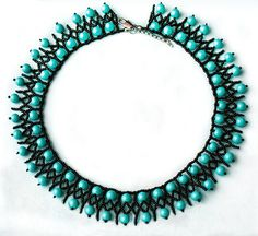 Free pattern for beaded necklace Turquoise | Beads Magic
