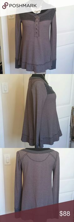NWOT Free People Oversized Distressed Thermal Super cute comfortable baggy thermal from we the free brand of free people. No flaws. Super cute great for cold weather. Very thick and warm like a true thermal. Feel free to make an offer! Free People Tops