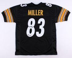 25194ee82 Heath Miller Signed Pittsburgh Steelers Jersey Inscribed