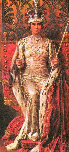 Queen Elizabeth the Queen Mother in her coronation robes