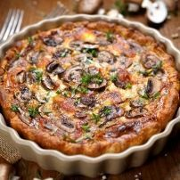 HEALTYFOOD Diet to lose weight Quiche express minceur aux champignons Quiches, Mozzarella, Caramelized Shallots, Mushroom Quiche, Quiche Lorraine, Cooking Recipes, Healthy Recipes, Snacks Für Party, Desserts