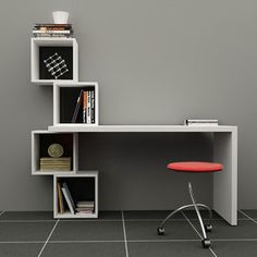 Balanced Desk White Black, £374, now featured on Fab. - looks like an IKEA hack to me!