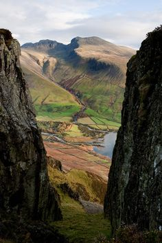 site ideas Scafells though Great Door, Yewbarrow, Lake District, England Places Around The World, Oh The Places You'll Go, Cool Places To Visit, Places To Travel, Around The Worlds, Cumbria, Lake District, British Countryside, Photos Voyages