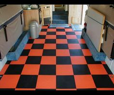 man up your man-cave with checkered garage flooring tiles
