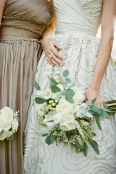 this color combo is stellar - for bridesmaids! love love love all the eucalyptus leaves!