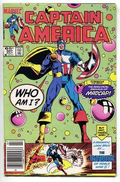 Captain America 307 Marvel 1985 VF NM 1st Madcap Deadpool Mercs For Money