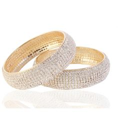Buy 9blings Festive Collection Gold Plated Cz 2pc Bangle Set L3229g online, Latest 9blings Festive Collection Gold Plated Cz 2pc Bangle Set L3229g by 9blings   latest Bracelets and Bangles Shopping online at http://www.craftsvilla.com/catalog/product/view