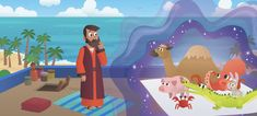 """New Bible App for Kids Story: Peter Has a Vision: """"Everybody's Welcome"""" 