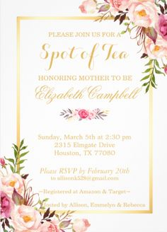 Floral Wedding Invitation Background Party Invitation Card In 2019