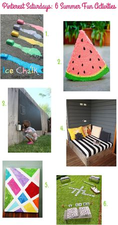 Pinterest Saturdays: 6 Summer Fun Activities via Style for a Happy Home
