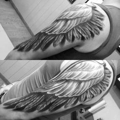 Creative Wing Tattoo Designs For Men