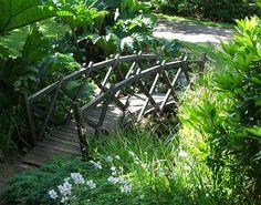 Rustic footbridge in Attadale, Scotland. Beautiful!