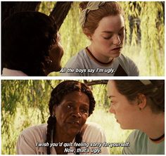 """""""All the boys say I'm ugly."""" """"I wish you'd quit feeling sorry for yourself."""" -The Help This movie was amazing. Movies Showing, Movies And Tv Shows, Love Movie, Movie Tv, Favorite Movie Quotes, Movies Worth Watching, Movie Lines, Book Tv, Film Quotes"""