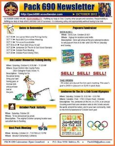 Cub Scout Newsletter Template Businesspost