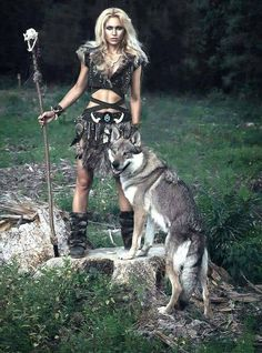 warrior and wolf (huskey)