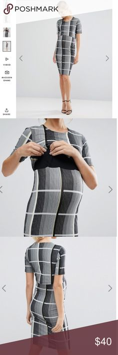 NWT Asos maternity nursing dress size 4 Gorgeous elastic dress size 6. Great for maternity and nursing ! It's like two in one 😉☺️. Brand new ! Classic look. ASOS Maternity Dresses