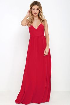 On the Silver Screen Red Maxi Dress at Lulus.com!