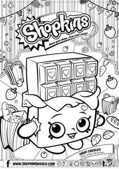 Printable Coloring Pages Of Shopkins