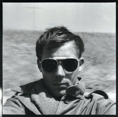 // Hunter S.Thompson self-portrait. On the road to Tijuana, 1960s.
