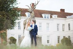 Summer Gosfield Hall Wedding Es Venue Bride And Groom Portrait Around The Back Of
