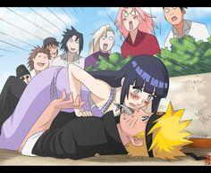 Like you see it's Hinata who fell on Naruto on their date. NaruHina Gakuen Den Date Naruhina, Naruto Shippuden Sasuke, Hinata Hyuga, Anime Naruto, Naruto Und Hinata, Naruto Comic, Wallpaper Naruto Shippuden, Naruto Cute, Shikamaru