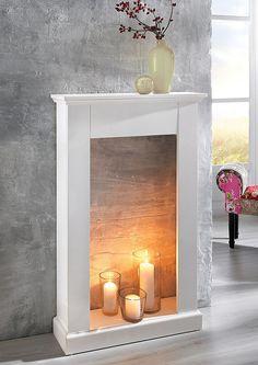 Kaminumrandung für 149,99€. Elegante Kaminumrandung, Aus weiß-lackiertem Holz, Für individuelle Dekorationsmöglichkeiten, Maße (H/B/T): 110x70x20 cm bei OTTO
