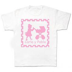 Camiseta de la hermana mayor personalizada Divertida camiseta infantil personalizada con el nombre de la hermana mayor y el nombre de su hermanito o hermanita. Es un regalo muy vistoso y original, para esa oprincesa destronada. 13,90 €