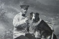 A German and his Collie, 1890's