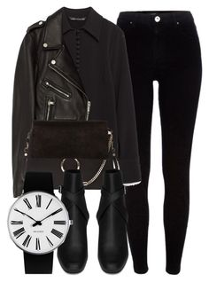 """""""Untitled #6469"""" by laurenmboot ❤ liked on Polyvore featuring River Island, Zara, Jakke, Chloé, Yves Saint Laurent and Rosendahl"""