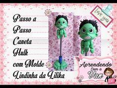 (DIY) PASSO A PASSO CANETA HULK COM MOLDE LINDINHA DA LILIKA - YouTube