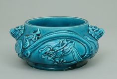 """Bleu de Deck"" bowl Maker: Joseph-Théodore Deck (French, 1823–1891) Date: ca…"