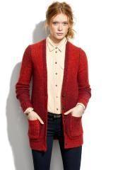 Cardigan in Red (marled paprika)