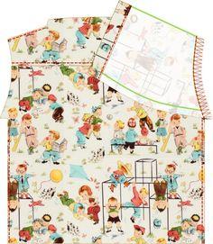 Materials: * Fabric ( Haul it/ Critter Camp/ Fun Times  by Michael Miller ) 120 cm x 60 cm (47 in x 24 in)- (size 68) (EU 4 - 6 mon...
