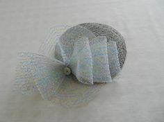 Grey Straw Fascintaor with Crinoline Sparkle by FrouFrou4YouYou, $40.00