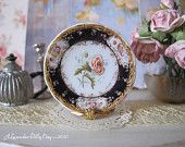 Coalport Double Poppy Dollhouse Miniature Plate