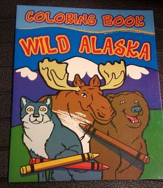 Wild Alaska Coloring Book - big pictures - 32 pages ! Eagle, Musk Ox, and more! Clicking on the View webpage link will take you to our eBay store listing for this item.  If you click on the following link, you will be taken to our Way Up In Alaska Toys page where this and other items are listed http://www.wayupinalaska.com/Toys---Games.html